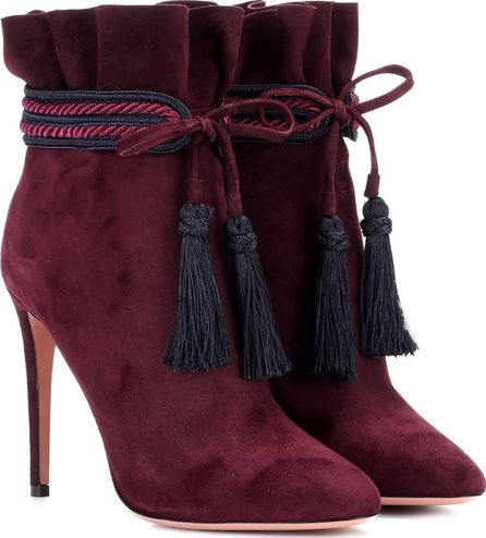 Aquazzura Shanty 105 suede ankle boots