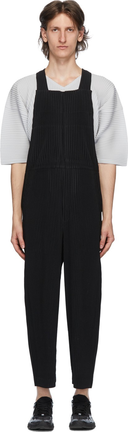 Homme Plissé Issey Miyake Black Pleated Overalls