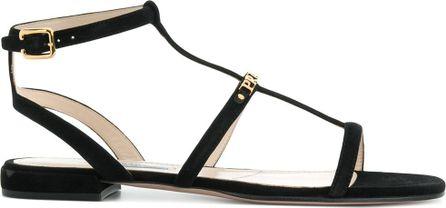 Prada Logo plaque sandals