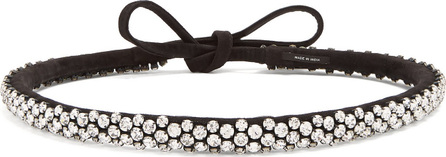 Isabel Marant Lush Stuff crystal-embellished suede belt