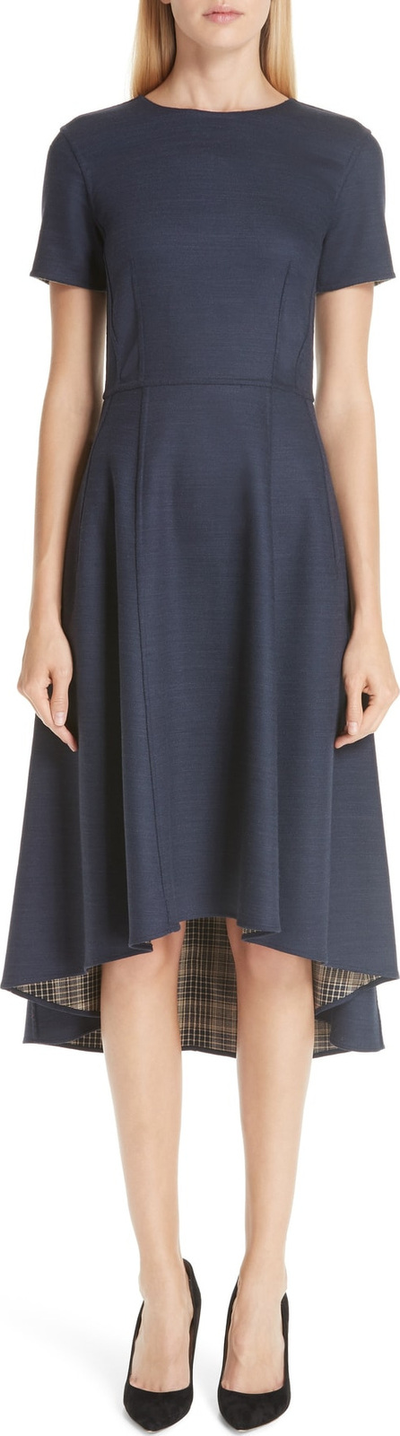 Adam Lippes Reversible Double Face High/Low Dress