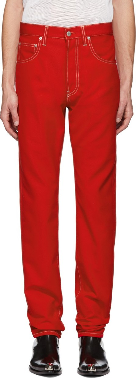 Helmut Lang Red Masc Hi Straight Jeans