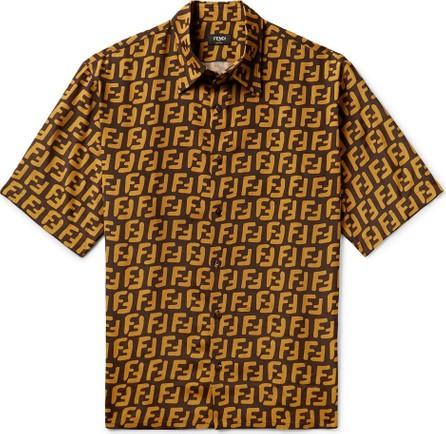 Fendi Logo-Print Woven Shirt