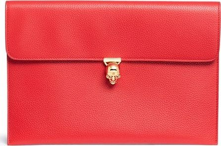 Alexander McQueen Skull small leather envelope pouch