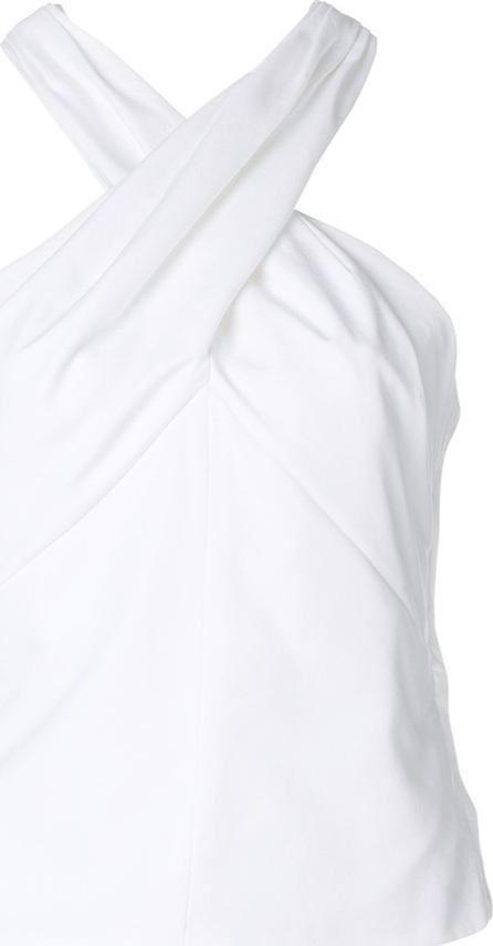 Carven White Halterneck top