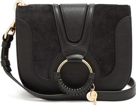 See By Chloé Hana suede gold ring cross body bag