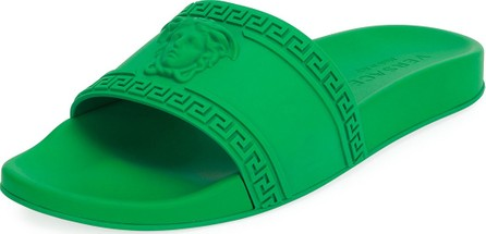 a3937e04389 Versace Men s Medusa   Greek Key Shower Slide Sandal