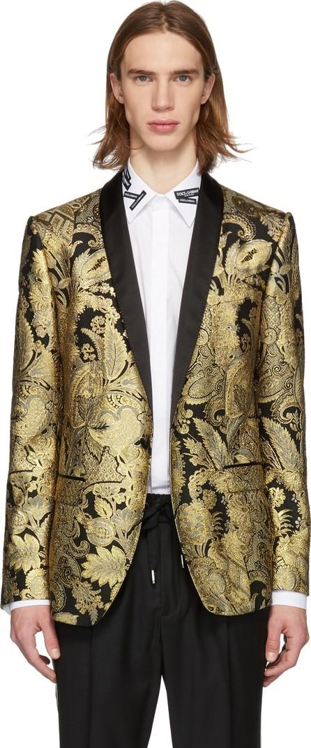 Dolce & Gabbana Black & Gold Lurex Blazer