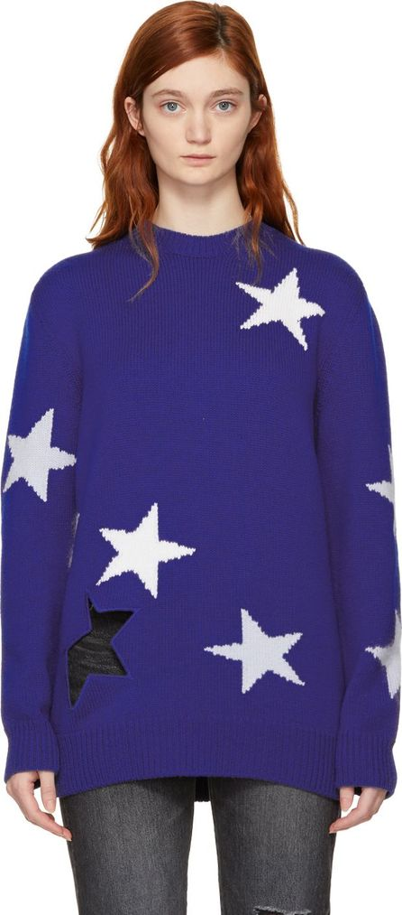 Givenchy Blue Oversized Stars Sweater