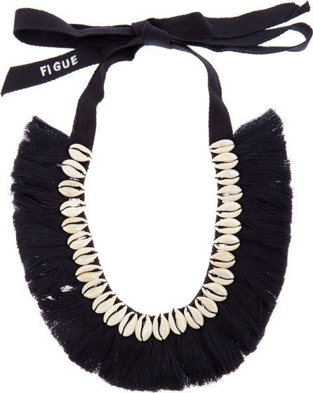 FIGUE Shell and tassel necklace