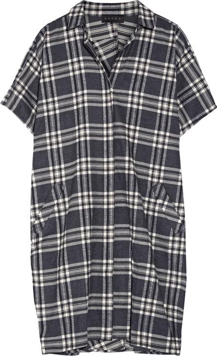 HATCH The Buttondown plaid cotton-flannel dress
