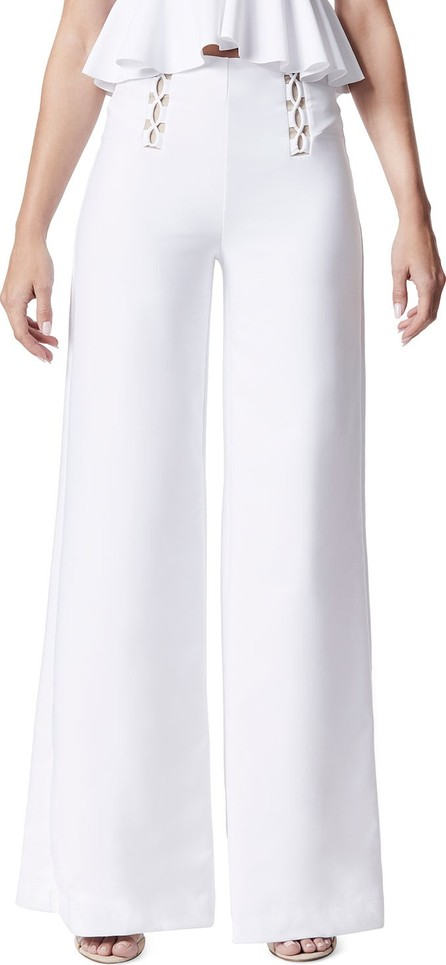 Carbon 38 Lace-Up Wide-Leg Full-Length Pants
