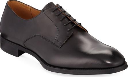 Giorgio Armani York Smooth Leather Rubber-Sole Derby Shoe