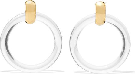 Kenneth Jay Lane Gold-tone resin hoop earrings