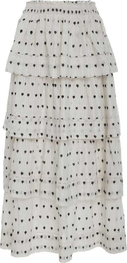 LOVESHACKFANCY Claire Tiered Midi Skirt