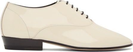 Saint Laurent Off-White Patent Marius Oxfords