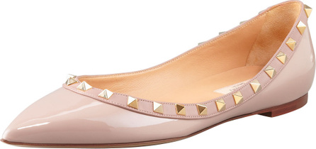Valentino Rockstud Patent Ballet Flat