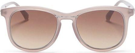 Linda Farrow 'Wilmott' metal bridge D-frame acetate sunglasses