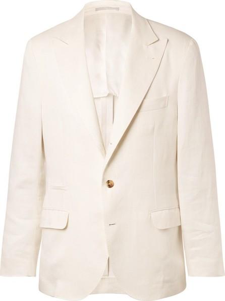 Brunello Cucinelli White Linen Suit Jacket