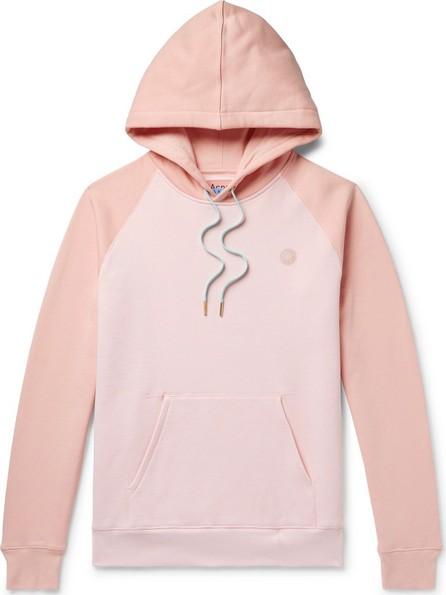 Acne Studios Logo-Appliquéd Colour-Block Fleece-Back Cotton-Jersey Hoodie