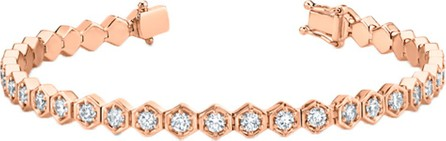 Anita Ko Rose Gold Honeycomb Diamond Tennis Bracelet