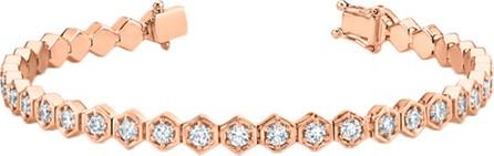 Anita Ko Rose Gold Honeycomb Diamond Tennis Bracelet