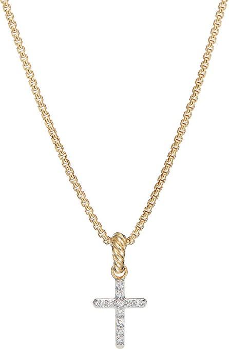David Yurman 'Cable Collectible' Diamond 18k gold cross enhancer