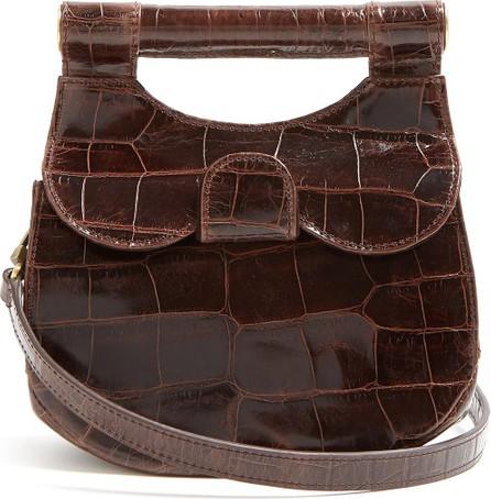 Staud Madeline crocodile-effect leather bag
