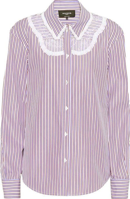 ROCHAS Lace-panelled cotton shirt