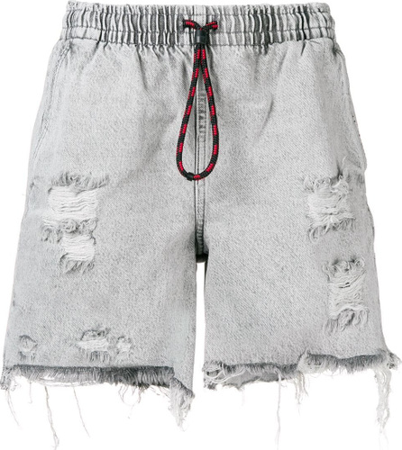 Alexander Wang Distressed denim jogger shorts
