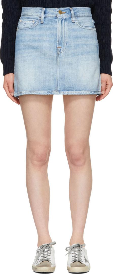 FRAME DENIM Blue 'Le Mini' Denim Miniskirt