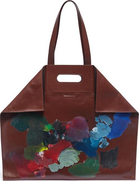 Alexander McQueen 'De Manta' paint palette leather shopping tote bag