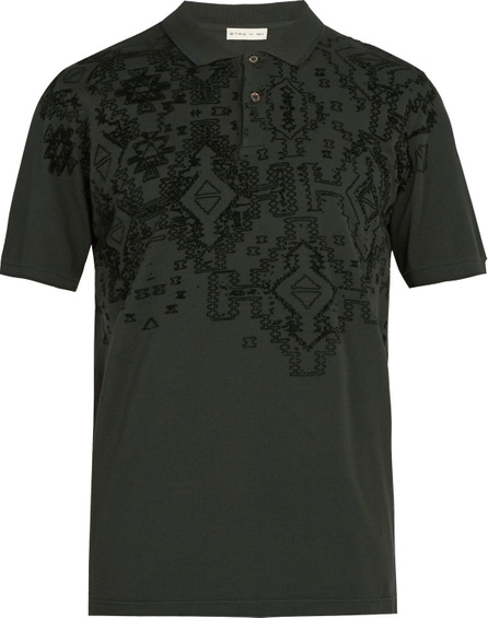 Etro Embossed cotton polo shirt