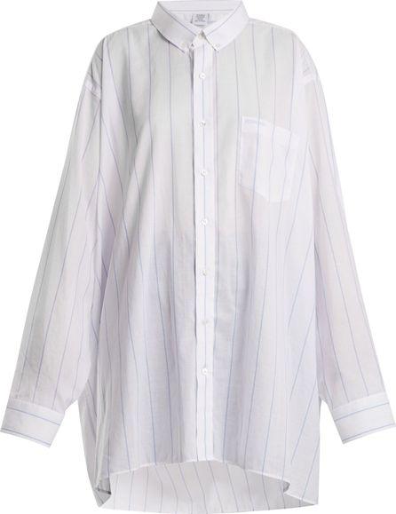 Vetements Patch-pocket striped shirt