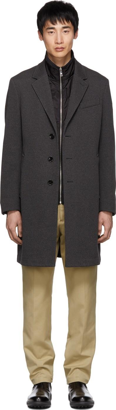BOSS Hugo Boss Grey Shaden Coat