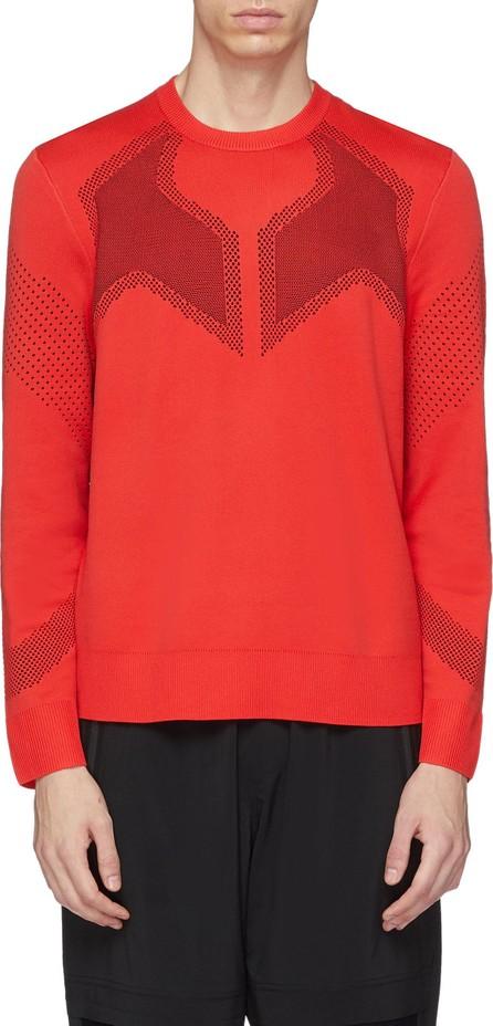 Black Barrett Geometric jacquard knit sweatshirt