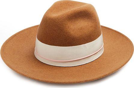Federica Moretti Bee wool-felt fedora hat