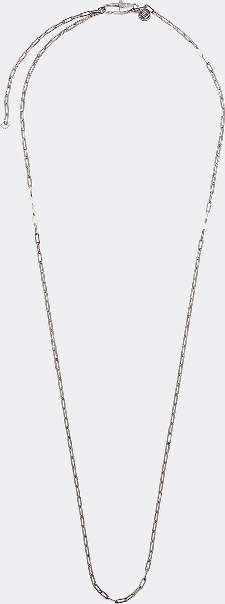 Tateossian Link chain rhodium silver necklace