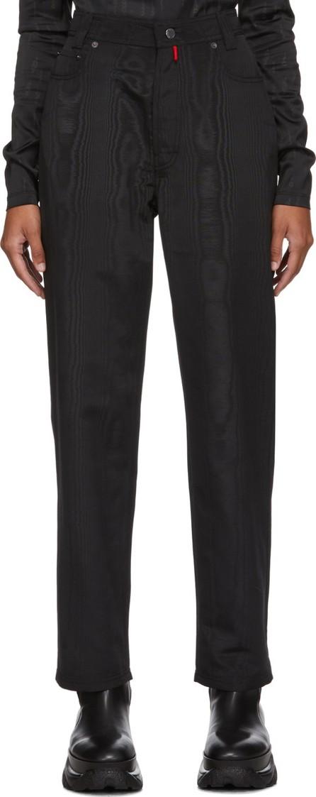 032c Black Moiré Trousers