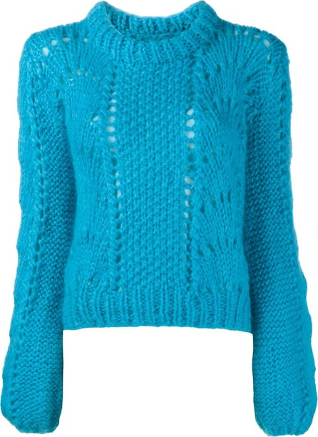 Ganni long sleeve wool-blend jumper