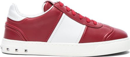 Valentino Leather Fly Crew Sneakers