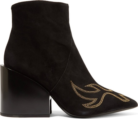 Acne Studios Angel embroidered suede ankle boots