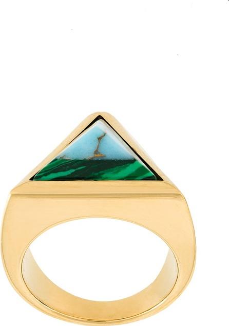 Fendi Rainbow pyramid ring