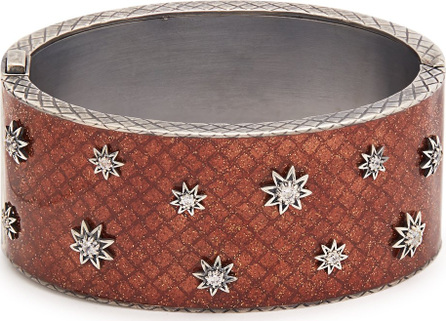 Bottega Veneta Stellular sterling-silver embellished cuff