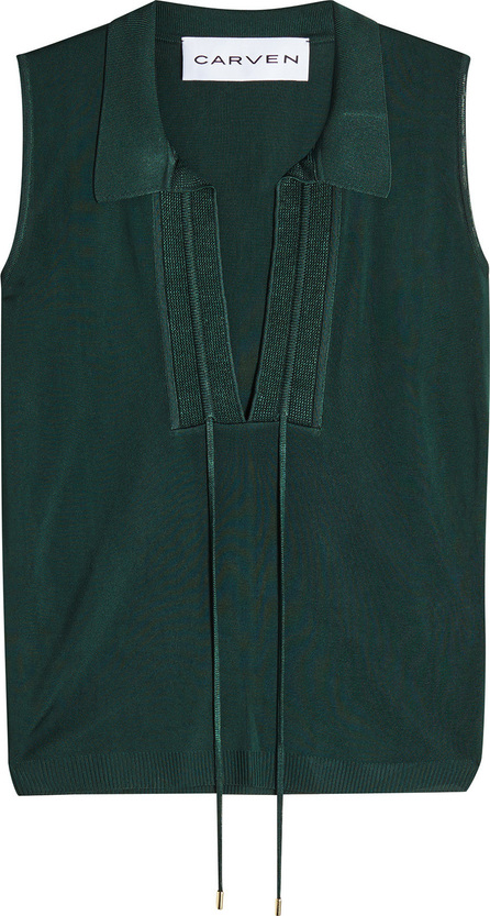 Carven Knit Tank with Drawstring Ties