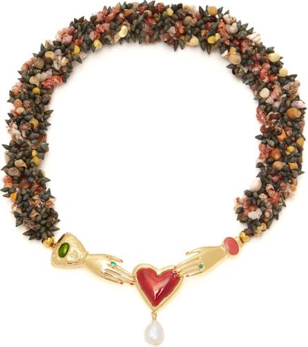 Heimat Atlantica Solange embellished shell necklace