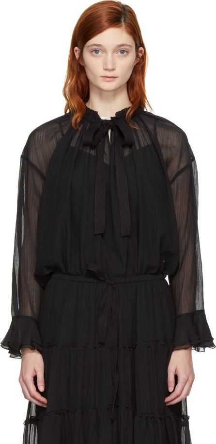 See By Chloé Black High Neck Bow Blouse