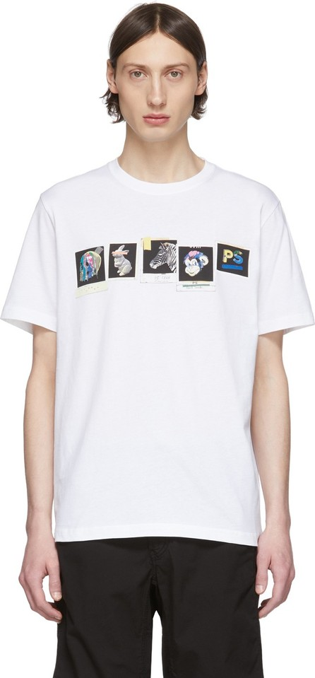 Ps By Paul Smith White 'PS Club Photos' T-Shirt