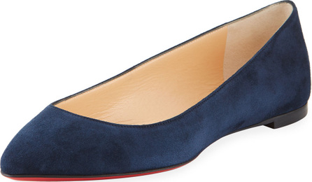 Christian Louboutin Eloise Suede Red Sole Flat