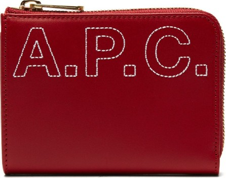 A.P.C. Lise logo-embroidered leather wallet